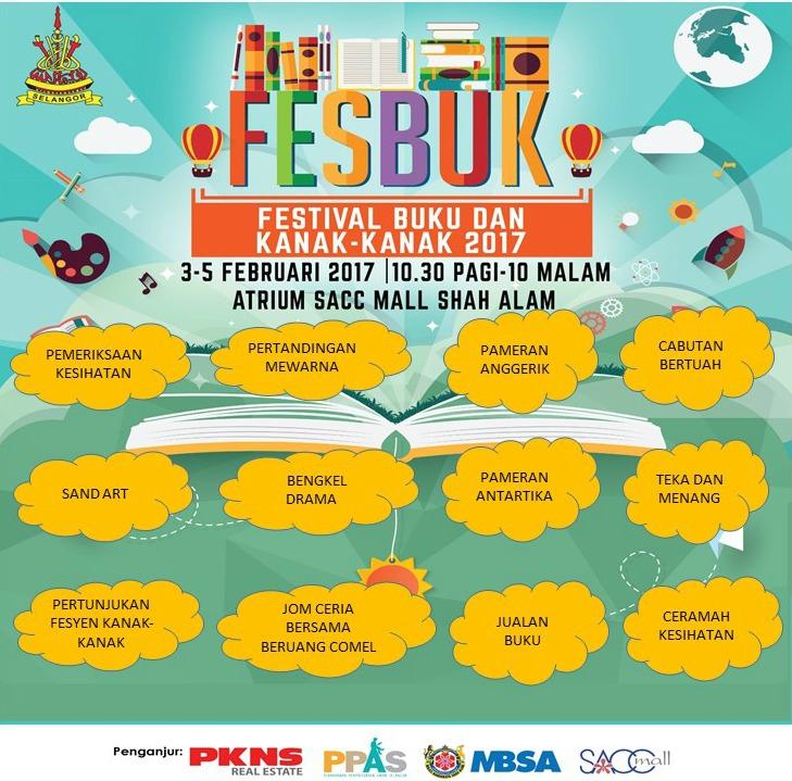 Festival Buku & Kanak-Kanak 2017 (FESBUK'17) disambut meriah